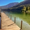 Lunz am See footbridge leading into the lake