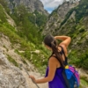 Female hiker takes pictures of the Grand Canyon of Austria