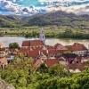 View on the village of Duernstein in the Wachau valley