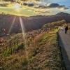 Wachau Walk couple walks towards sunset